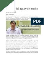 01-04-2014 La Región - Cuidado del agua y del medio ambiente.
