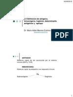 2.5 Definición de antígeno, inmunógeno, hapteno, determinante antigénico y  epitopo