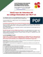 tract élection dp ELT LC 2ème tour
