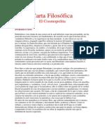 Carta Filosófica - El Cosmopolita