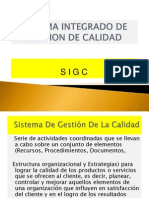 Sistema Integrado de Gestion de Calidad Ises