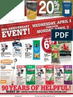 Ace Hardware's 90th Anniversary Sale