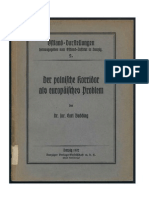 Budding, Carl - Der polnische Korridor als europäisches Problem (1932)