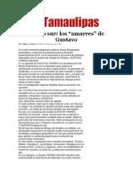 """28-03-2014 Hoy Tamaulipas - Sólido sur, los """"amarres"""" de Gustavo."""