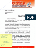 Oficio N° 05-2014 CEN SUTEP
