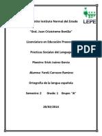 ortografia de la lengua espaola