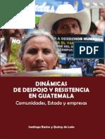 Dinámicas de Despojo y resistencia en Guatemala
