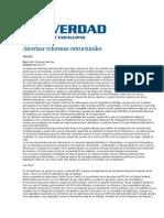 28-03-2014 L a Verdad - Aterrizar reformas estructurales.