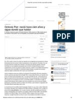 Octavio Paz_ nació hace cien años y sigue dando que hablar