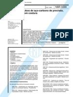 NBR 5599 (Set 1995) - Tubos de aço-carbono de precisão, com costura
