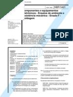 NBR 5401 (Nov 1984) - Componentes e equipamentos eletrônicos - Ensaios de ambiente e resistência mecânica - Ensaio T - Soldagem