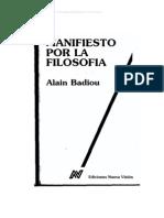 80615174 Badiou Manifiesto Por La Filosofia OCR