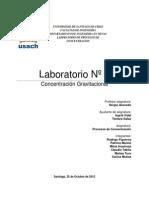Informe Laboratorio 3 Concentracion Gravimetrica GRUPO XORIZO!!