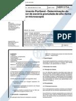 NBR 5754 (Abr 1992) - Cimento Portland - Determinação do teor de escória granulada de alto-forno por microscopia