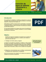 Prevencion de Riesgos en Talleres de Carpinteria y Muebleria