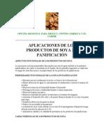 Aplicacion de Soya en Pan