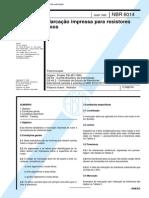 NBR 6014 (Mar 1980) - Marcação impressa para resistores fixos