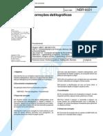 NBR 6031 (Dez 1980) - Correções datilográficas