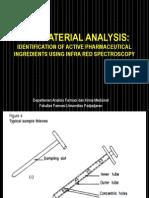 Raw Material Analysis-IR
