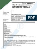 NBR 6251 (Nov 2000) - Cabos de potência com isolação extrudada para tensões de 1 kV a 35 kV - Requisitos construtivos