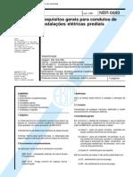 NBR 6689 (Jul 1981) - Requisitos gerais para condutos de instalações elétricas prediais