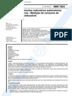 NBR 7024 (Fev 2002) - Veículos rodoviários automotores leves - Medição do consumo de combustível