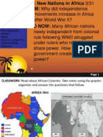 Independence Movements in Africa