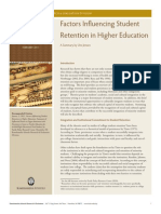 Factors Influencing Student Retention in Higher Education