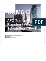SCM612 - APO Transportation Planning - Vehicle Scheduling (TP-Vs)