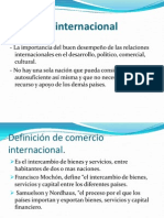 Comercio Internacional.