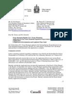 NEB decision on Kinder Morgan hearings and intervenors list