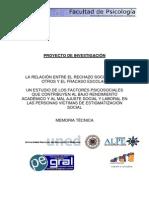 Proyecto Investigacion Relacion Rechazo-Fracaso Escolar