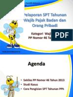 Slide Pengisian SPT Tahunan Badan Dan OP Sesuai PP No. 46 Tahun 2013