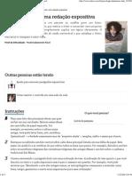 Como concluir uma redação expositiva _ eHow Brasil