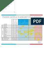 PiaggioVespaGilera Colour Chart