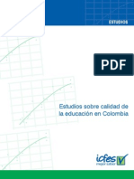 Estudios Sobre Calidad de La Educacion en Colombia