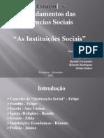 Trabalho de Fundamentos das Ciências Sociais