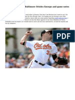 Boston Red Sox @ Baltimore Orioles lineups and game notes - April 2