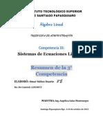 resumen de la 3° competencia sistemas de ecuaciones lineales omar nuñez duarte.docx
