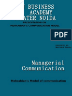 mehrabian model of communication