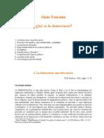 Touraine, A. - Que Es La Democracia