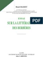 Henri Basset : Essai sur la litterature des  Berbères