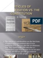 articles of confederation vs the constitution