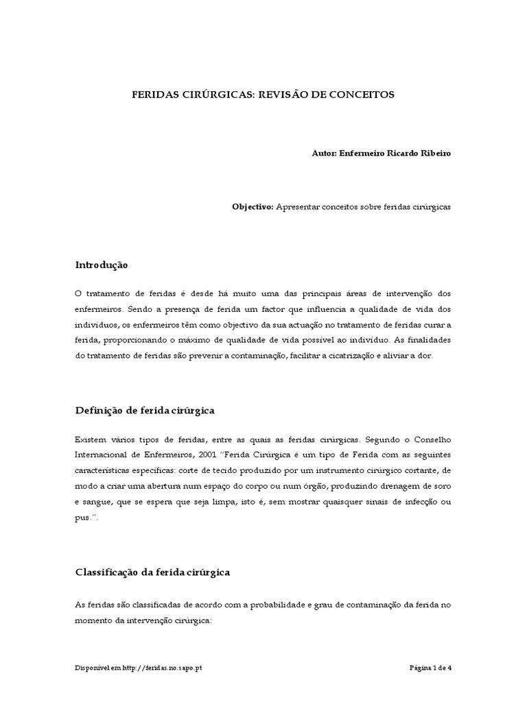 Ferida Cirurgica_Revisao de Conceitos