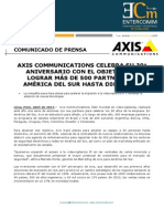 Axis Communications celebra su 30° aniversario