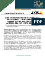 Axis Communications celebra su 30° aniversario