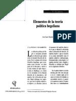 Elementos de la teoría política hegeliana - José Luis Tejeda