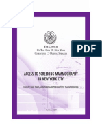 'Access to Mammography in New York City'