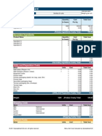 Menu Costing Template ProductAraceli 28 Kg