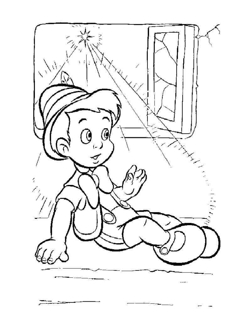 Dibujos Para Colorear Del Cuento De Pinocho